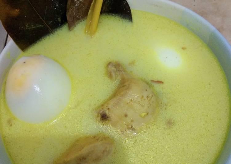 Opor ayam+telur kampung resep ibu