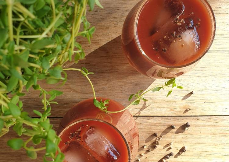 Easiest Way to Prepare Quick Bloody mary 🍅 (vodka punch)