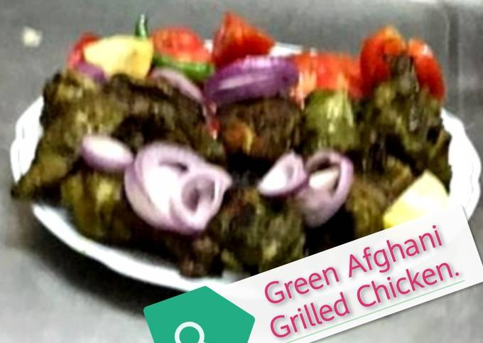 Green Afghani Grilled Chicken