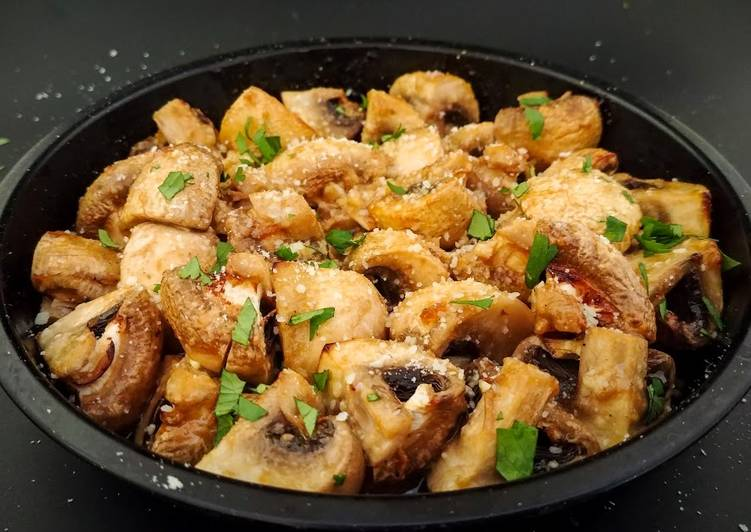 Parmesan BBQ Mushrooms