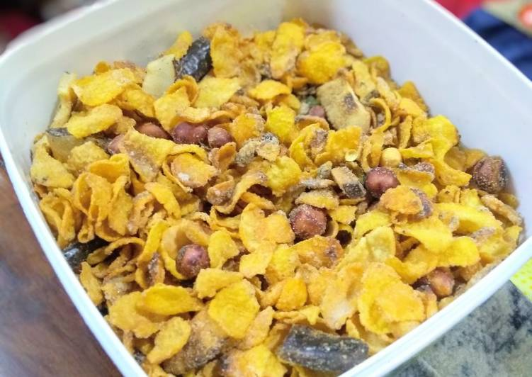 Roasted cornflakes snack