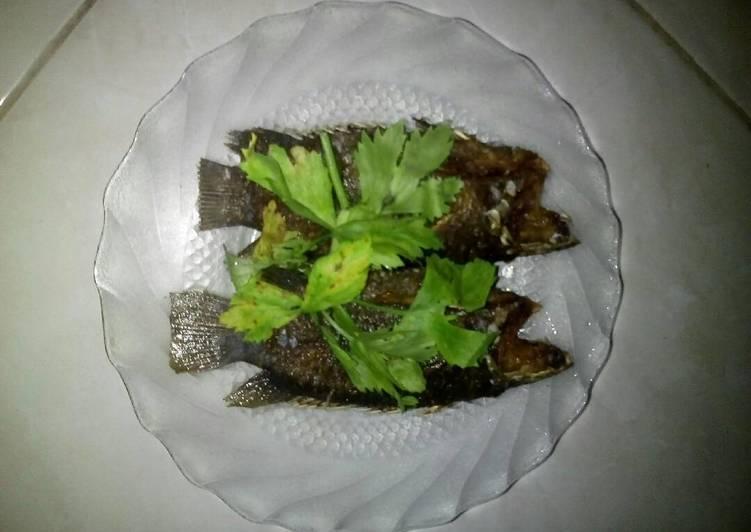 Ikan papuyu goreng (paling simple)