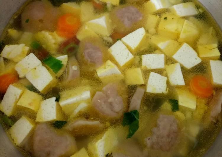 Resep Sop Bakso Tahu Yang Mudah Sedap