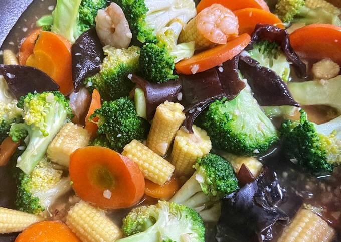 Capcay Brokoli Jamur Kuping