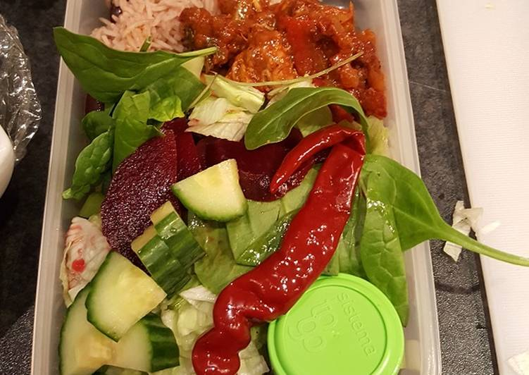 How to Make Yummy Left-over Salad Lunch