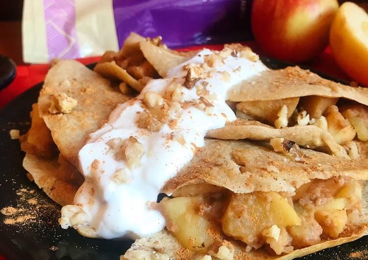 Receta fácil: Delicioso Crepes de quinoa con manzana y canela
