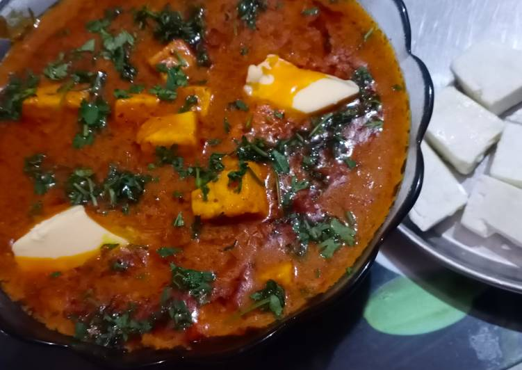 5 Minute Recipe of Quick Paneer butter masala