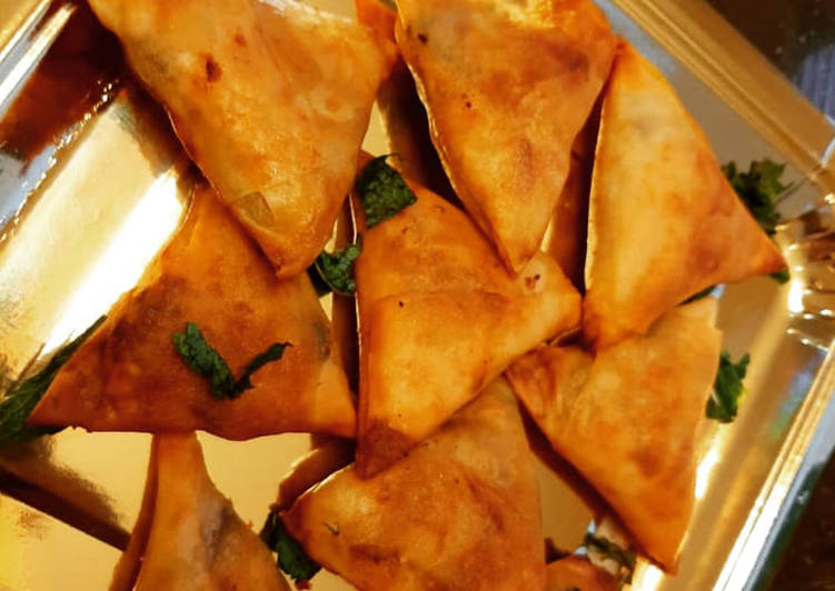 Steps to Prepare Quick Bikaneri Mini Samosa (Baked and Fried)