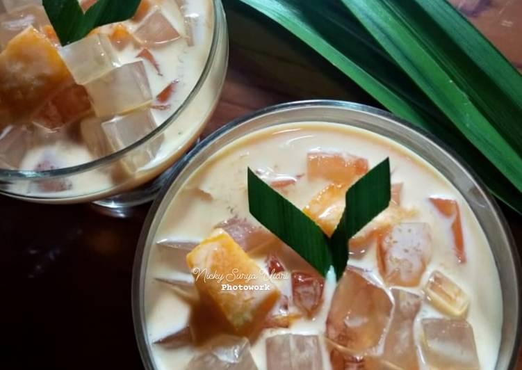 Creamy Mango Jelly (Ala Mango Sagoo)