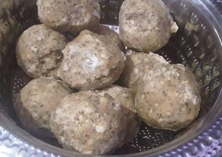 Recipe of Super Quick Homemade Ajwain ladoo