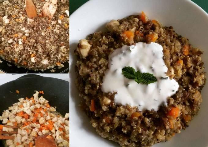 Rapid'Wok quinoa lentilles poulet