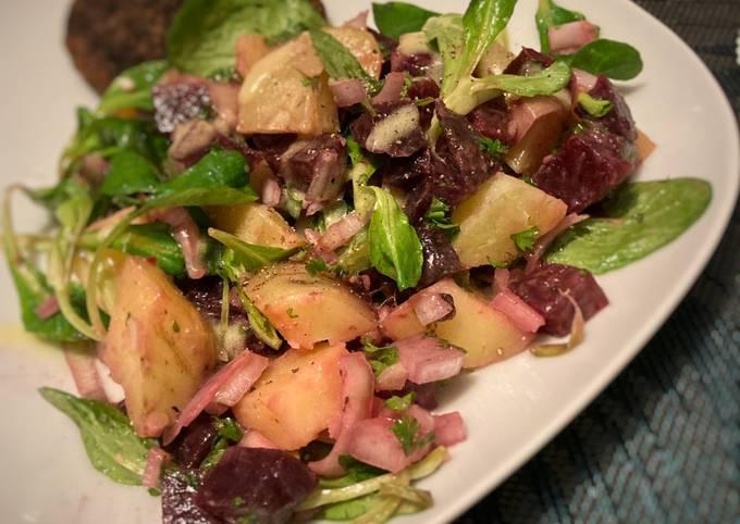 Salade betterave pomme de terre