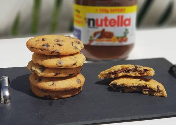 Recette Délicieuse Cookies coeur Nutella