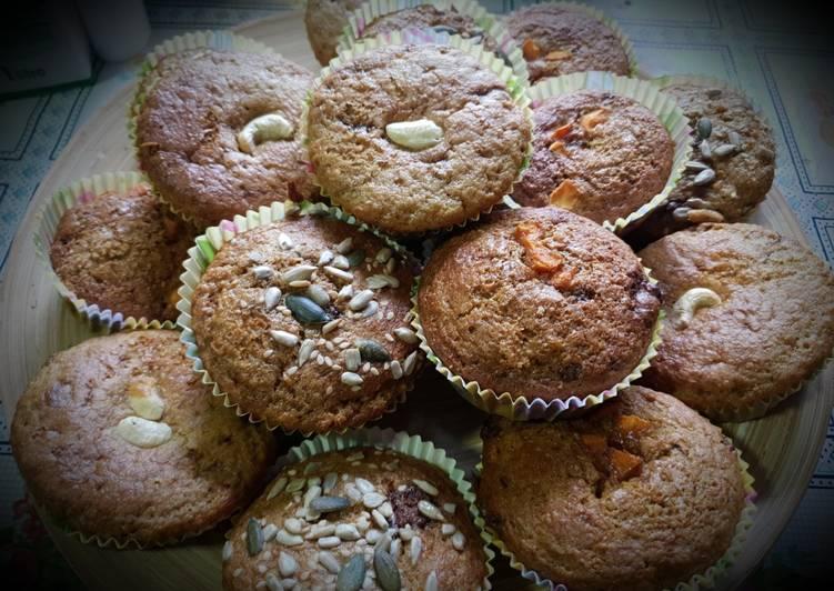 Muffins versátiles, misma masa muchos ingredientes
