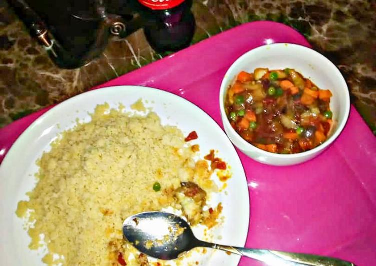 Couscous and veggies soup