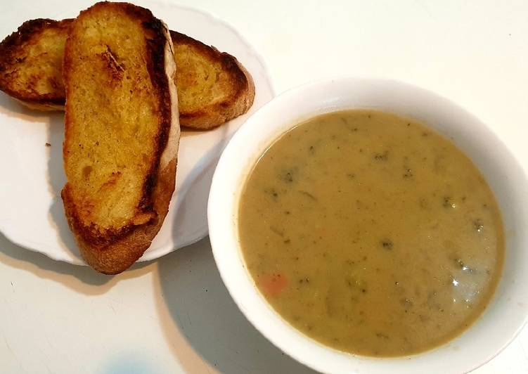 Recipe of Favorite Broccoli and Blue Cheese Soup