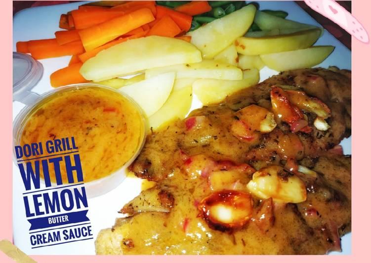Dori Grill with Lemon Butter Cream Sauce