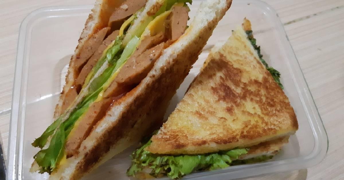 Sandwich Sosis Keju