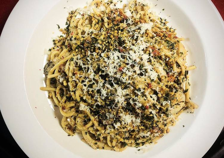 Recipe: Delicious Bucatini aglio e olio
