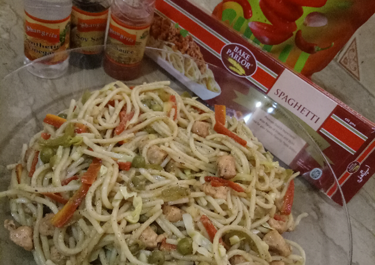 Recipe of Super Quick Homemade Chicken veg spaghetti