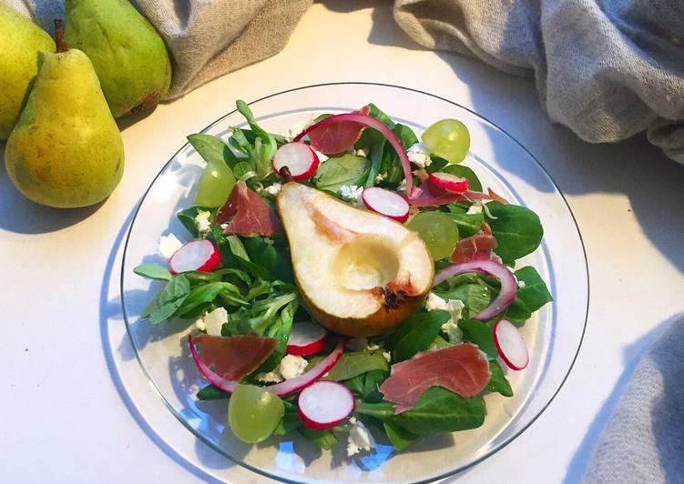 Comment Préparer Les Salade de poires rôties 🍐