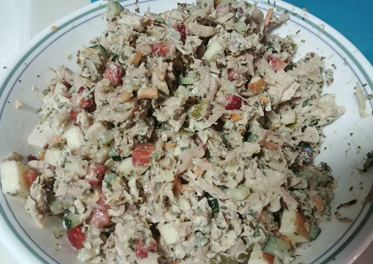 Mediterranean Inspired Tuna Salad