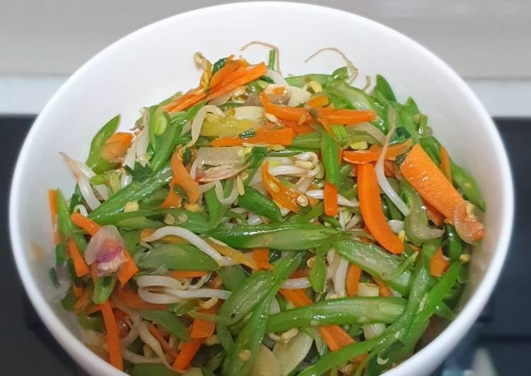 Tumis Buncis mix wortel tauge