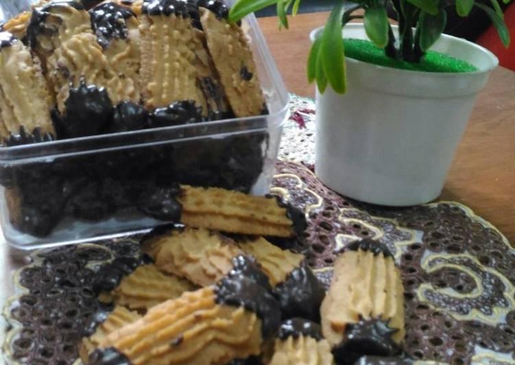 Cookies celup coklat