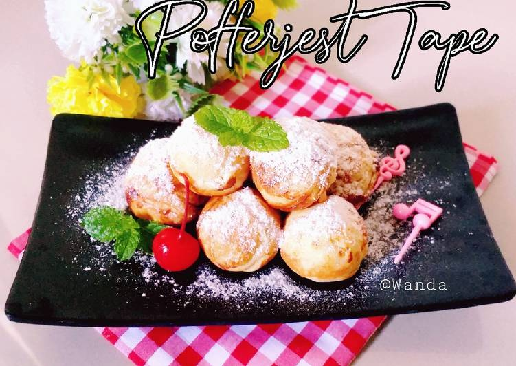 Cara Gampang Membuat Poffertjes Tape isi Coklat Anti Gagal