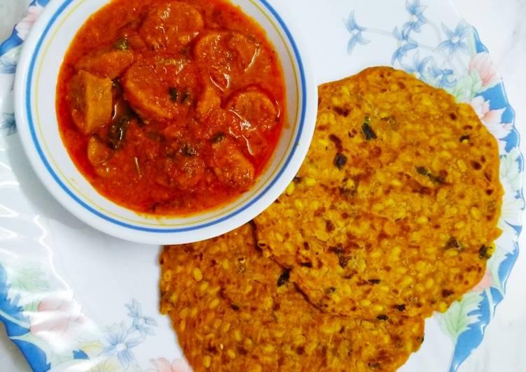 Recipe of Award-winning Ghatta Subji with Pitthi Paratha