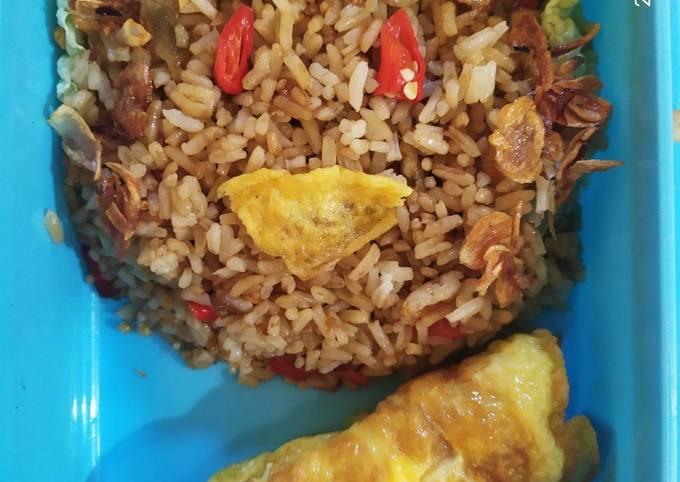 Nasi Goreng sambal terasi (Bekal Anak Paud)