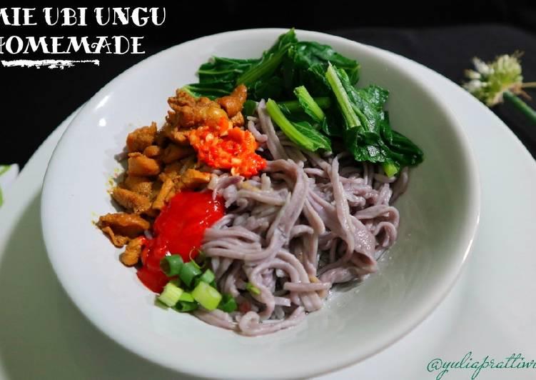 Resep Mie Ubi Ungu Homemade oleh Yulia Prattiwi - Cookpad