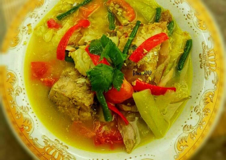 Gangan Asam/sayur asem ikan kakap