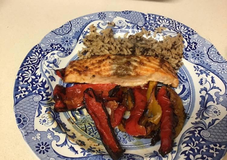 Soy and honey glazed salmon