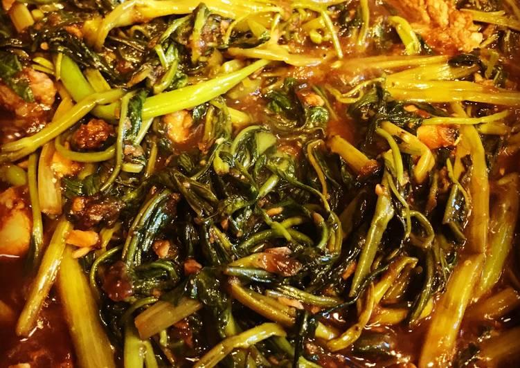 Adobong Kangkong Water Spinach Recipe By Minda Cookpad