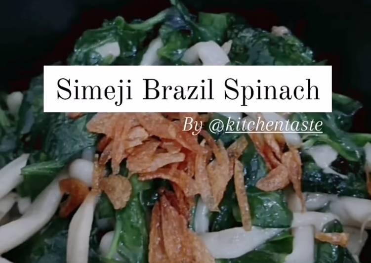 Simeji Brazil Spinach (Tumis Bayam Brazil Simeji) Kitchentaste