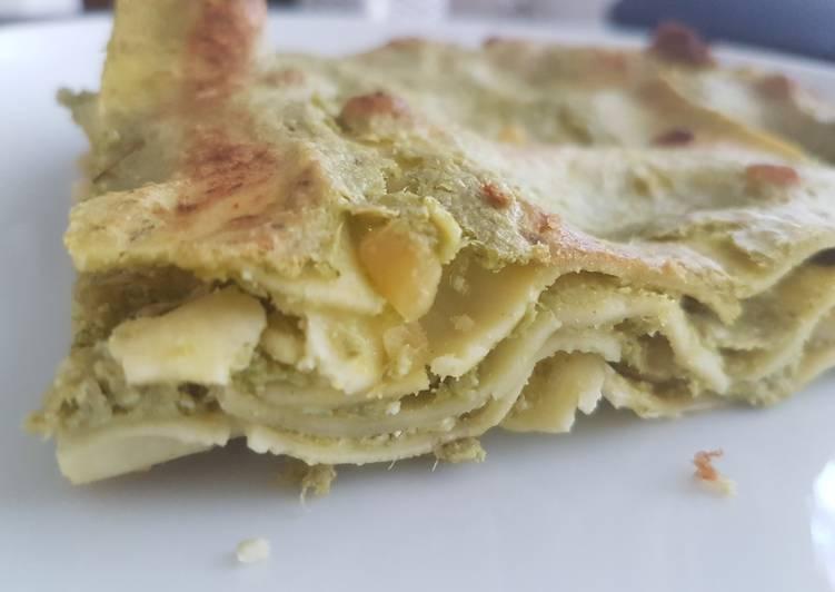 Comment Préparer Des Lasagne à la brousse et au pesto