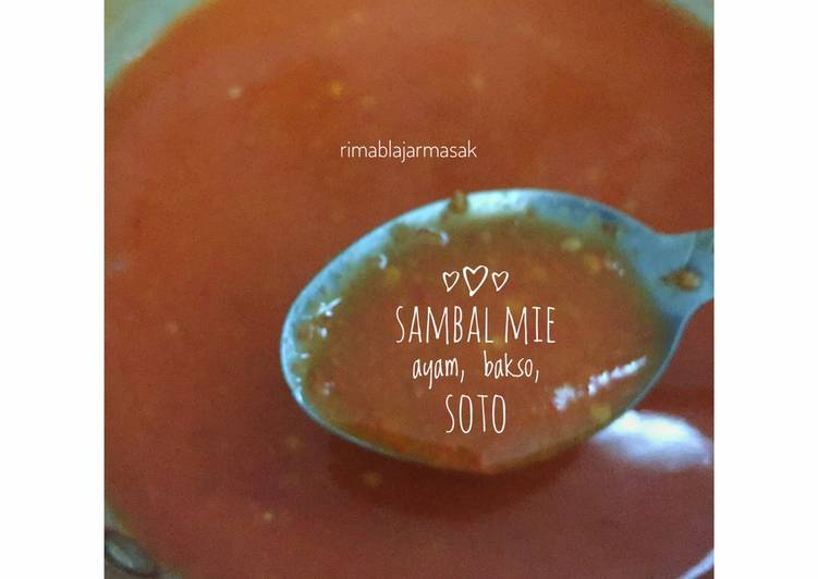 #30 Sambal Mie ayam, bakso dan soto