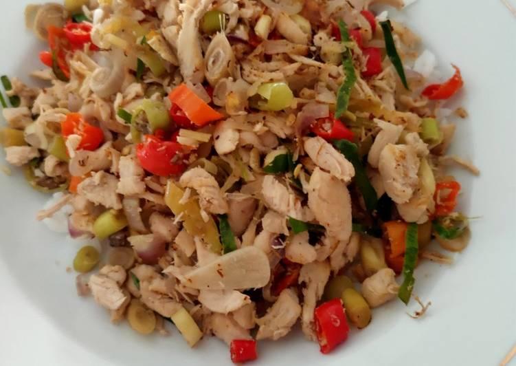 Ayam geprek sambal matah diet