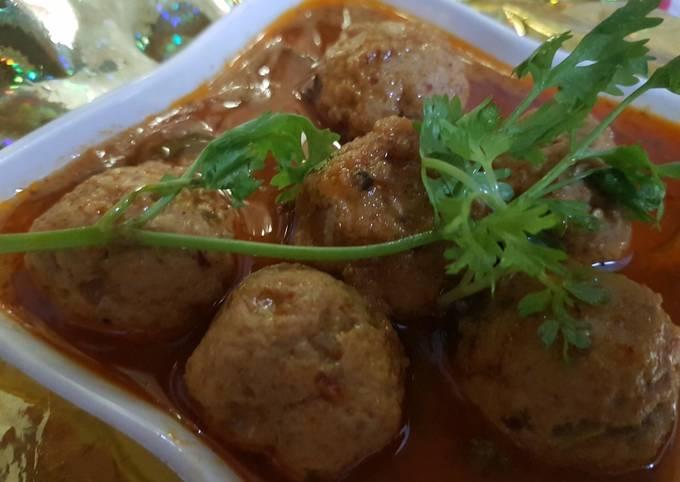 Recipe: Appetizing Chicken Kofta curry recipe I Chicken Meatball recipe restaurant style I Chicken kofta Gravy