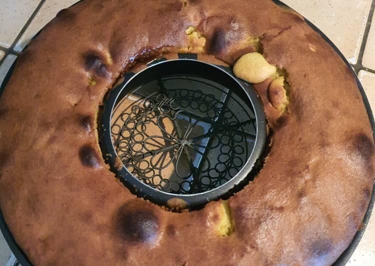 Gâteau caramélisé ananas/pomme