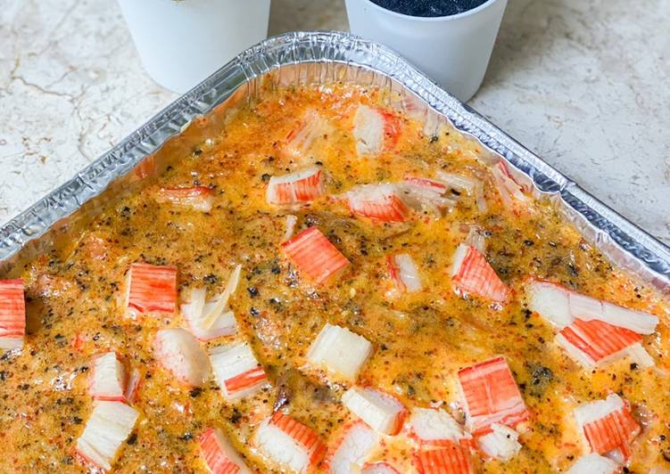 Salmon Mentai Rice with Shrimp