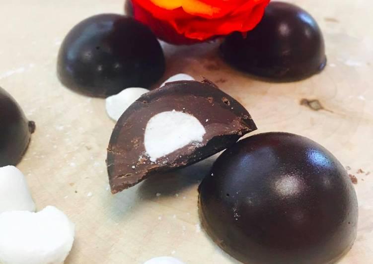 La Recette Pas à Pas Bonbons chocolat meringue