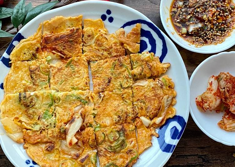 Living Greener for Good Health By Consuming Superfoods Korean Kimchi Pan Cake (Chidjimi)②