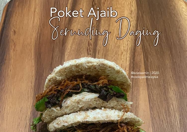 Resepi:  Poket Ajaib Serunding Daging Simple