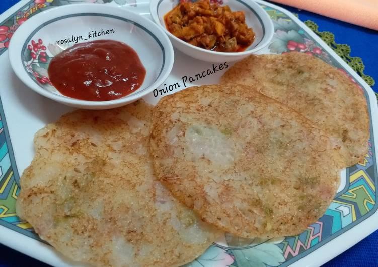 Onion Rava Dosa (Onion Pancakes)