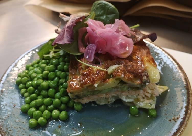 Recipe of Favorite Swedish Salmon Gratin in oven