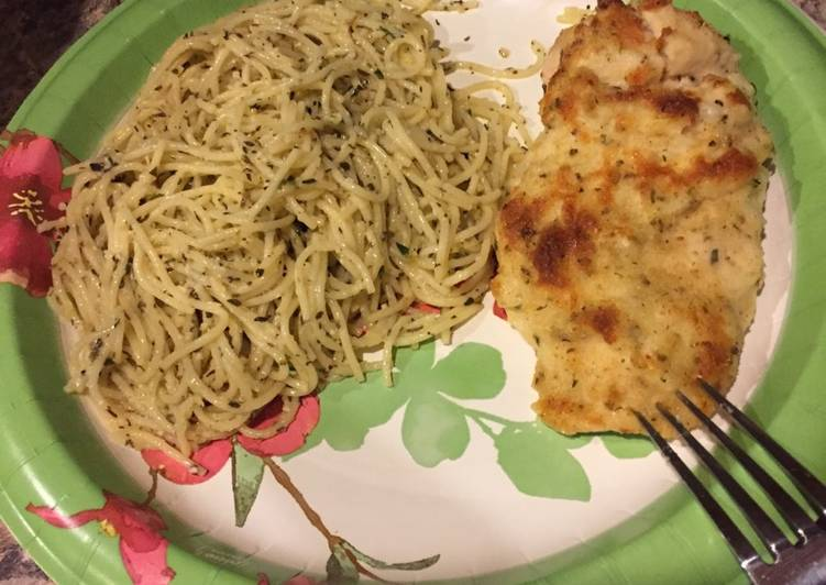 Absolutely Ultimate Dinner Ideas Quick Parmesan Crusted Chicken with Garlic Herb Noodles