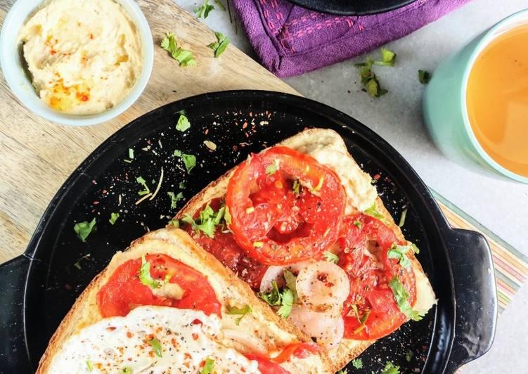 10 Minute Easiest Way to Prepare Royal Hummus Shakshuka Toast
