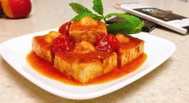 Hình ảnh món Đậu hũ nhồi trứng cút sốt cà chua?